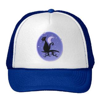 Midnight Kitty Oval Hats