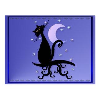 Midnight Kitty Postcard