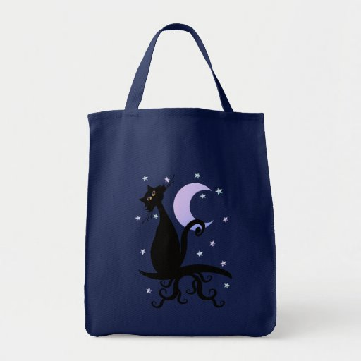 Midnight Kitty Tote Bag