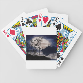Midnight landscape bicycle playing cards