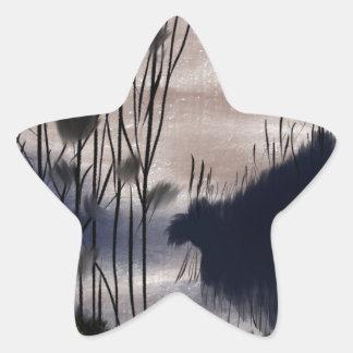 Midnight landscape star sticker
