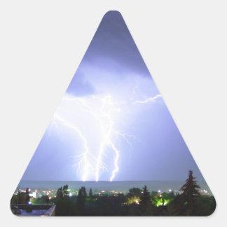 Midnight Lightening Triangle Sticker