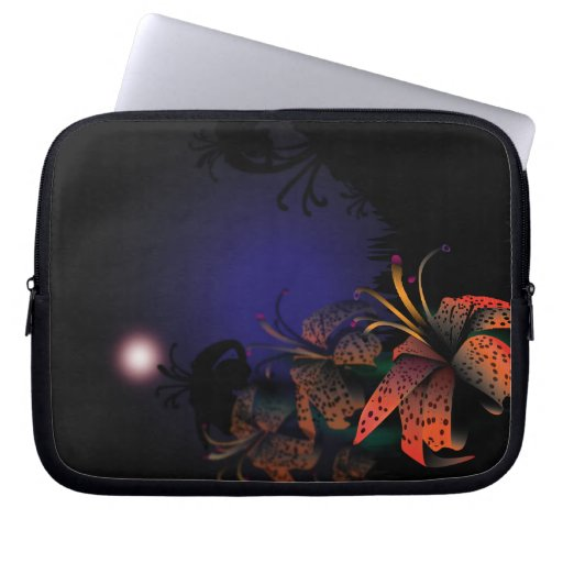 Midnight Lillies Electronic sleeve Computer Sleeve