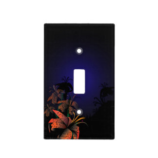 Midnight Lillies light switch cover