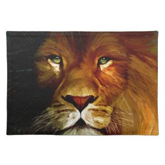 Midnight Lion 1.jpg Cloth Placemat