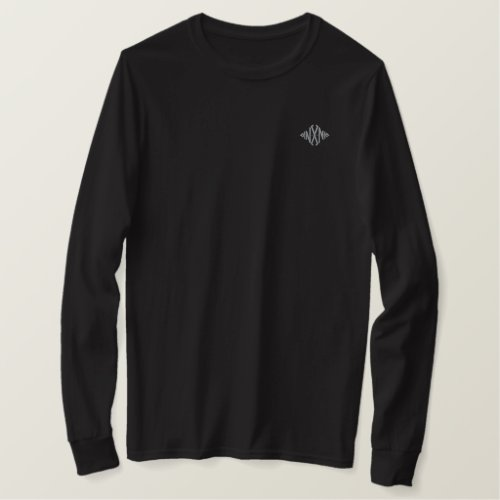 Midnight Logo Embroidered Long Sleeve T_Shirt