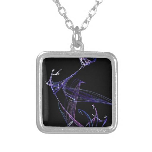Midnight Madness Dancing Fractal Necklace