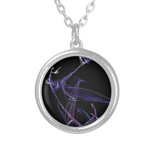 Midnight Madness Dancing Fractal Necklaces