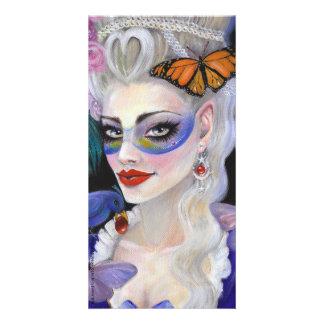 Midnight Masquerade Customized Photo Card