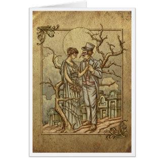 """Midnight Masquerade"" (Halloween Poem) Card"