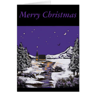 """Midnight Mass at Church"" Products.* Card"