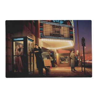 Midnight Matinee 2 Placemat at Zazzle