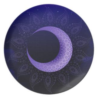 Midnight Melamine Plate