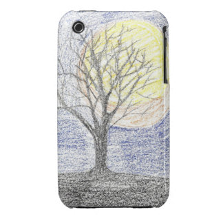 Midnight Moon and Tree iPhone 3G/3GS Case