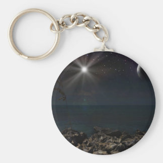 Midnight Moon Keychain
