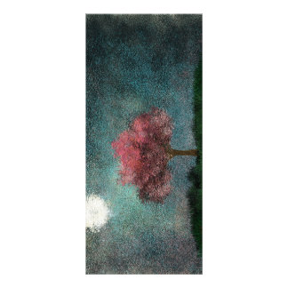 midnight moon pink tree bookmark custom rack card