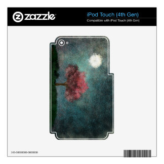 midnight moon pink tree iPod touch 4G skin