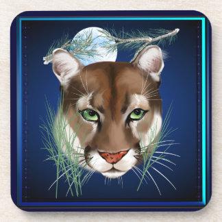 Midnight Mountain Lion Coasters