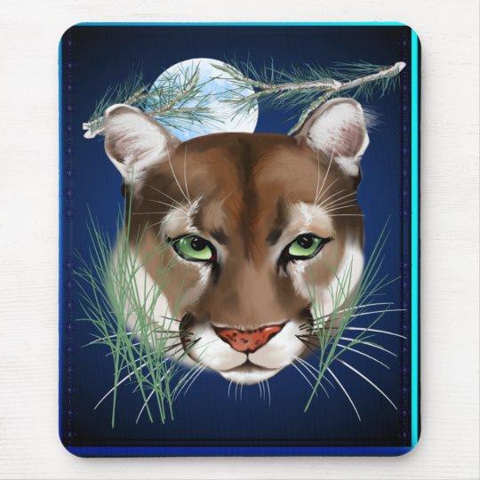 Midnight Mountain Lion Mousepad