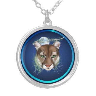 Midnight Mountain Lion  Necklace