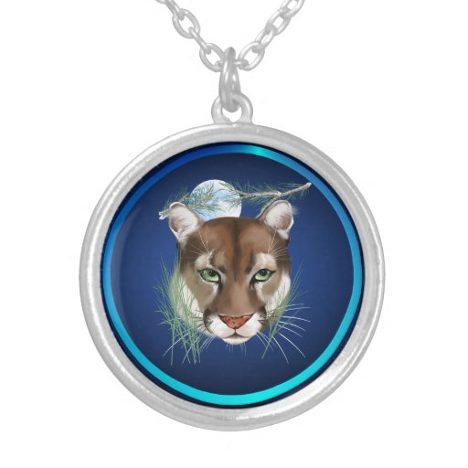 Midnight Mountain Lion  Necklace