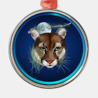 Midnight Mountain Lion Ornament