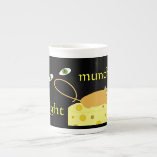 MIDNIGHT MUNCHERS MOUSE EYES CHEESE BONE CHINA MUG