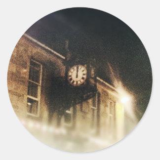 Midnight on Hogmanay Classic Round Sticker