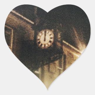 Midnight on Hogmanay Heart Sticker
