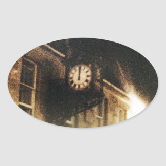 Midnight on Hogmanay Oval Sticker