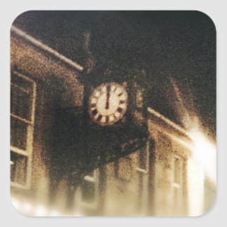Midnight on Hogmanay Square Sticker