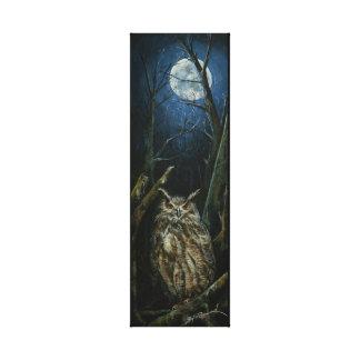 "Midnight Owl 8"" x 24"" Single Canvas Print"