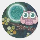 Midnight Owl Classic Round Sticker