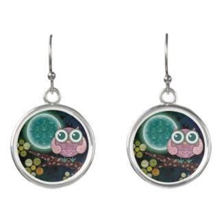 Midnight Owl Drop Earrings