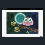 "Midnight Owl Laptop Skin<br><div class=""desc"">My artwork is available in a large variety of gorgeous products!</div>"