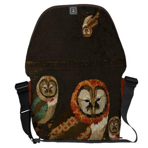 Midnight Owls  Messenger Bag
