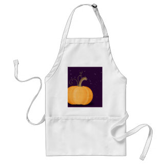MIdnight Painted Pumpkin Adult Apron