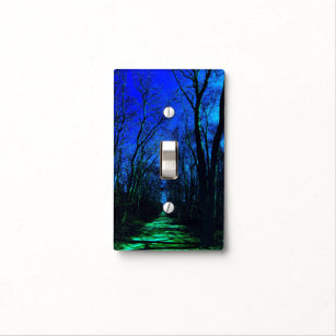 Midnight Path Light Switch Plate