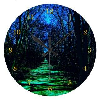 Midnight Path Wall Clock
