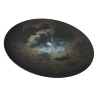 midnight pearl dinner plate