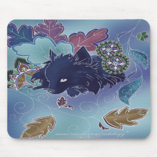 Midnight Pomeranian Mousepad