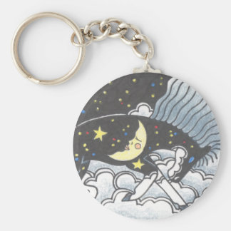 Midnight Pony Basic Round Button Keychain