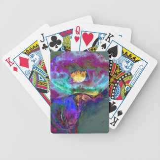Midnight Poppy Bicycle Playing Cards