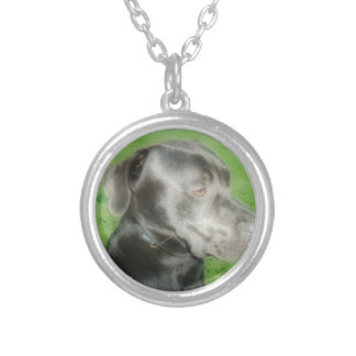 Midnight Pose Orton Styled Photo Silver Plated Necklace