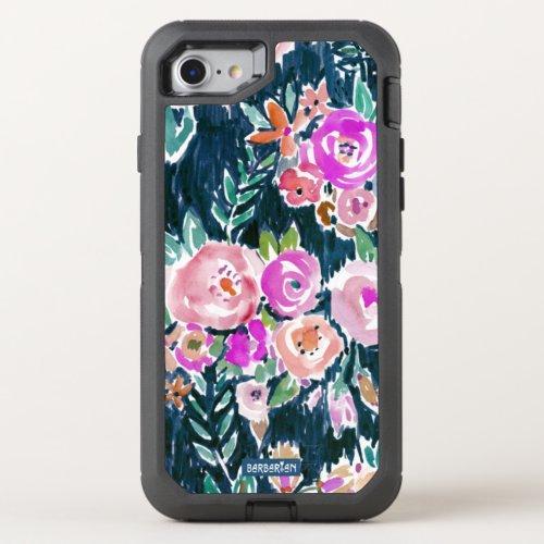 Midnight Profusion Dark Rose Floral Phone Case