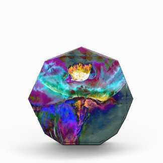Midnight Purple Poppy Acrylic Award