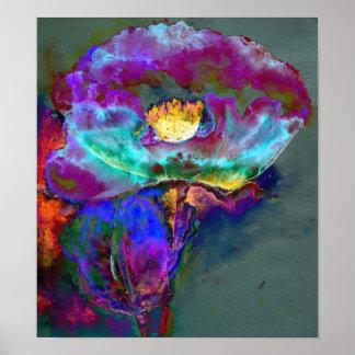 Midnight Purple Poppy Poster
