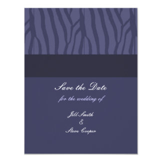 "Midnight Purple Save the Date 4.25"" X 5.5"" Invitation Card"