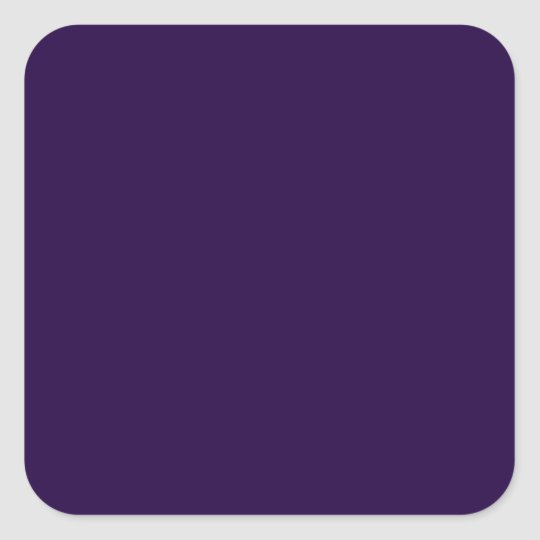 Midnight Purple Square Sticker