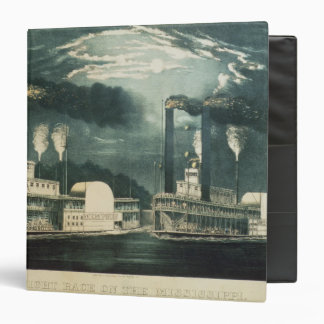 Midnight Race on the Mississippi, 1875 3 Ring Binder